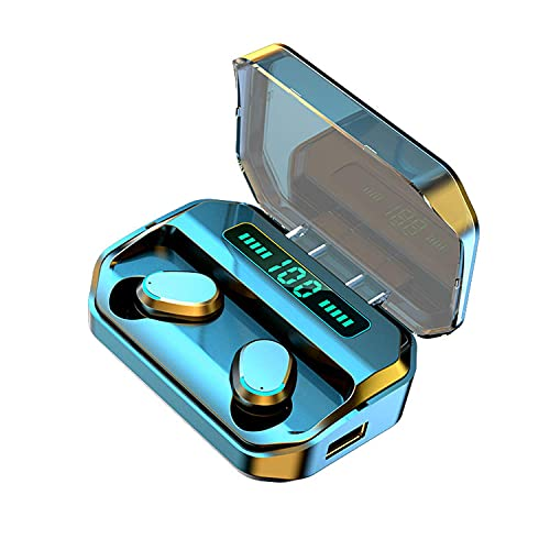 VFHTDV New Wireless Earbuds Bluetooth 5.0 Headset, IPX7 Waterproof, 140 Hours Play time with Charging Box, LED Battery Display, auriculares, 3D Stereo Audio Full Touch Screen Headset with Microphone