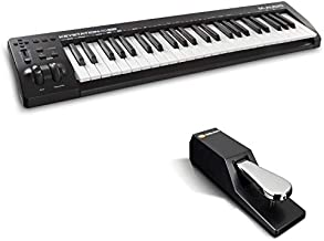 MIDI Controller Bundle - 49-Key USB MIDI Keyboard Controller with Sustain Pedal and Pro Software Suite - M-Audio Keystation 49 MK3 + SP-2