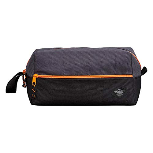 Water-Resistant Hanging Toiletry Travel Bag/Dopp Kit – Spacious Black Gym, Shaving Bag for Men