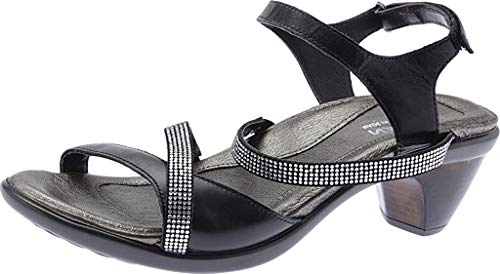 Naot Footwear Women's Innovate Heel Black Leather Combo 11 M US