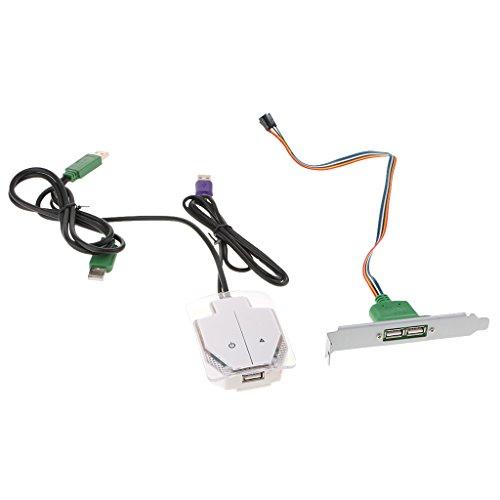 SDENSHI Interruptor para botón ON/OFF de la fuente de alimentación de la carcasa del ordenador de sobremesa con puerto USB