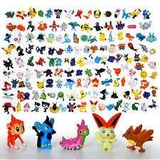 XINPIN 48 pcs Pokemon Monster Mini Figure 2-3cm in Random …