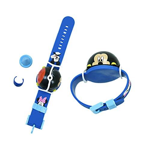 qinhuang 2 Piezas Lindo Azul Rosa Mickey Minnie Dedo Reloj Spinning Top, Coche Niños Juguete Diapasón Juguetes para Niños