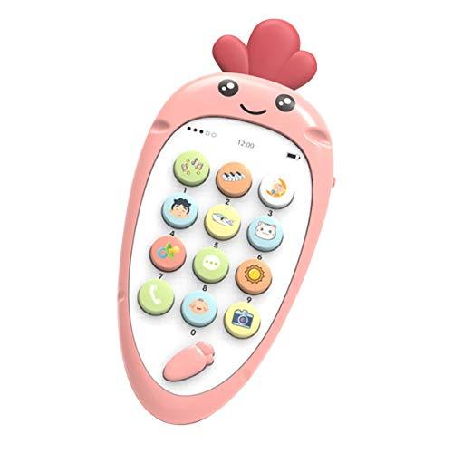 healthwen Simulación de Juguetes para niños Teléfono móvil Bebé Educación temprana Pantalla táctil Música Teléfono Juguete