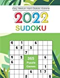 2022 Sudoku: Sudoku Puzzles Daily Calendar 9x9 Of The Year 2022 For Adults, 365 Puzzles, 5 Levels of Difficulty (Easy to Extreme)