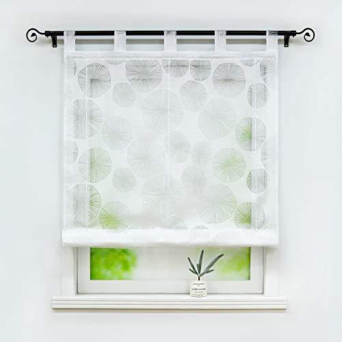 Joyswahl Voile Weiß Raffrollo mit Kreise Ausbrennerqualität »Alicia« Schals Fenster Gardine mit Schlaufen BxH 140x150cm 1 Stück