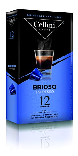 Cellini ESPRESSO Brioso (10 Kapseln à 5 g), 5er Pack (5 x 50 g)