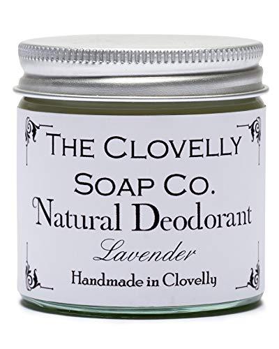 Clovelly Soap Co. Natürliche Deo Creme ohne Aluminium - Handgemacht - Lavendel 60g Glas