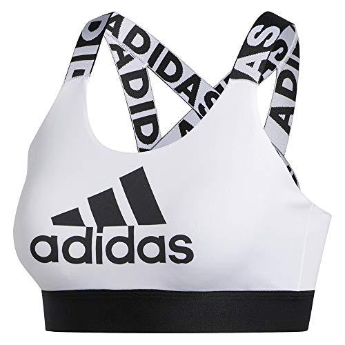 adidas Damen DRST BRND B Sports Bra, White, S