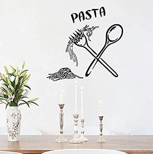 Pegar pegatinas de pared azulejo de la cocina decoración de la pared vinilo decoración de la pared comida comida cuchara tenedor pegatina 44CmX46Cm