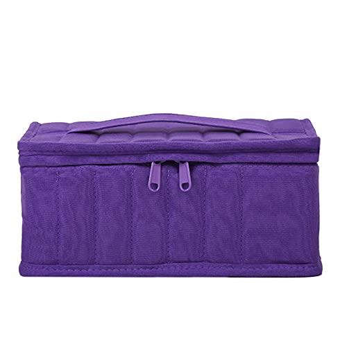 laoonl Con bolsa de almacenamiento con cremallera, portátil de gran capacidad, con caja de almacenamiento de esmalte de labios de 38+1 compartimiento, se puede utilizar para esmalte de uñas cosmético