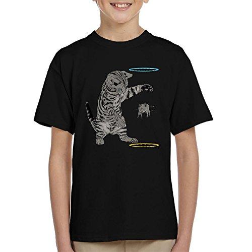 Portal Cat Get That Mouse Kid's T-Shirt