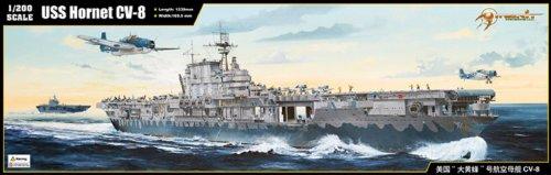 Merit 62001 - Modellino USS Hornet CV-8 in Scala 1:200