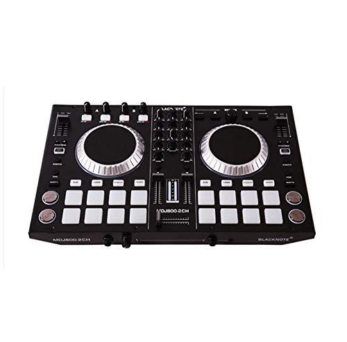 DJ 4-Kanal MIDI-Controller, Disc-Audio-Mischpult, Mixer, Profi Elektronische Musik Geräte mit Pads, Geeignet für Nachtclub-Party-Bühne