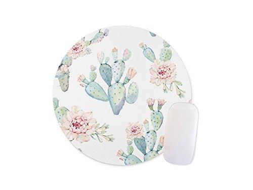Seamless Plant Cactus Flower Mouse Pad Anti-Slip Mouse Pad Office Mouse Pad 240mm x 200mm x 3mm
