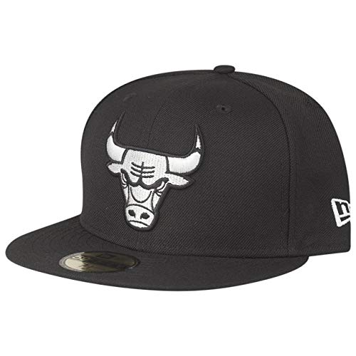 New Era 59Fifty - Gorra, diseño de los Chicago Bulls, Color Negro y Gris, Unisex Adulto Infantil, Negro, 8