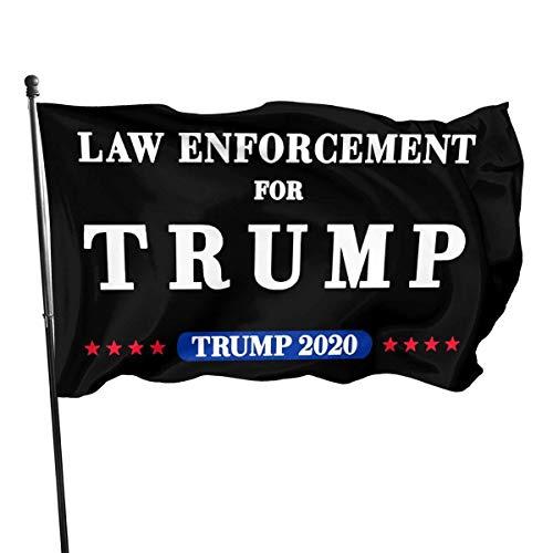 AngelDOU Trump 2020 Yard Sign-Law Enforcement 3x5 Foot American Us Outdoors Flag