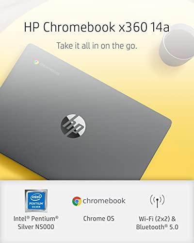 14 inch HP Chromebook x360 HD Chromebook Pentium Silver N5000