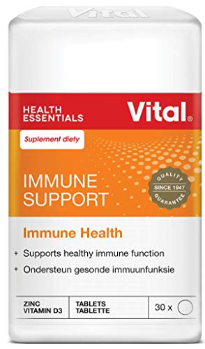 Vital Inmune Support – Multivitamina Daily Oral Inmunitario Booster Suplemento Vitamina A/C/D (30 pastillas) – Complex mineral – Zinc, selenio
