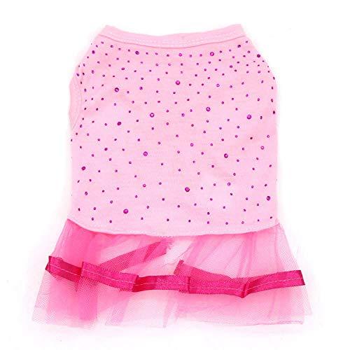 Verano Vestido para Perros con Vestido para Perros pequeños Faldas para Cachorros Ropa para Perros y niñas Vestido de Princesa para Perros Vestido-H_M