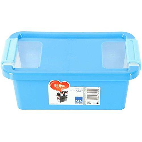 Kiss Kis Aufbewahrungsbox Bi Box 3 Liter in blau-transparent, Plastik, 16x26.5x10 cm