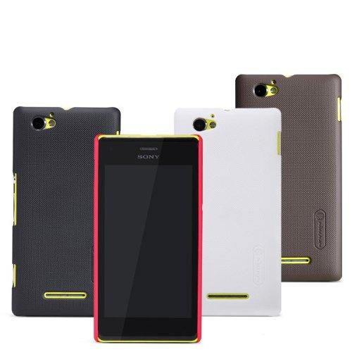 Dolextech Custodia guscio di protezione di alta qualità per Sony Xperia M 100% NILLKIN Back Cover (Rosso)