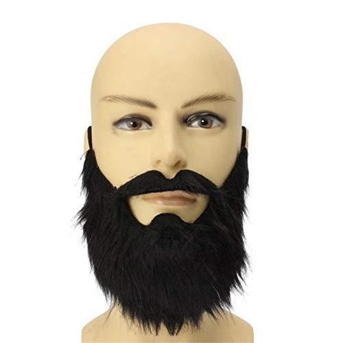 AimdonR - Divertente Costume da Uomo, Barba, Halloween, Capelli del Viso, Baffi Neri, Ottima qualità