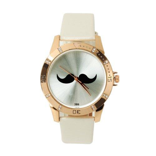 SSITG Reloj Cuarzo Barba Reloj de Pulsera Reloj Trend Blogger Retro Vintage Watch Regalo Gift ss00151