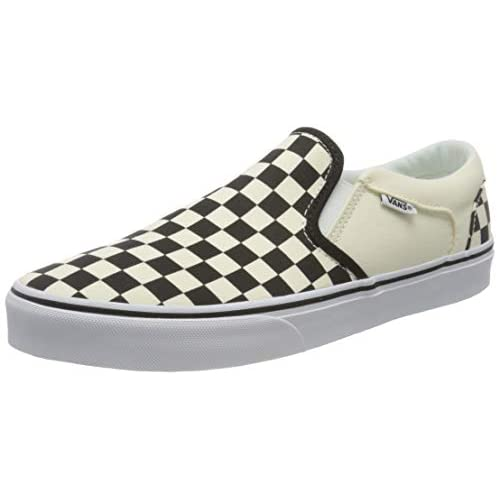 Vans Asher, Sneaker Uomo, Bianco Checkers/Black/Natural, 42 EU