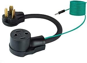 Fullsky FC-103143G 30 amp Dryer Plug Adapter 4 Prong to 3 Prong Dryer Adapter 3 to 4 prong dryer adapter NEMA 10-30P to 14-30R, 30Amp 250V 4 prong dryer plug adapter 3 prong dryer cord 4 prong