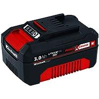 Einhell 4511341 BATERIA Repuesto 18V 3,0Ah min, 18 V, Negro, Rojo, 3.0 Ah, duración de carga: 60 minutos