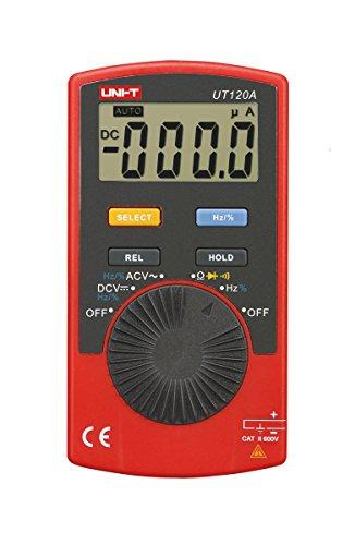 Uni-Ball T ut120a/mie0143–Multímetro digital, color rojo y negro