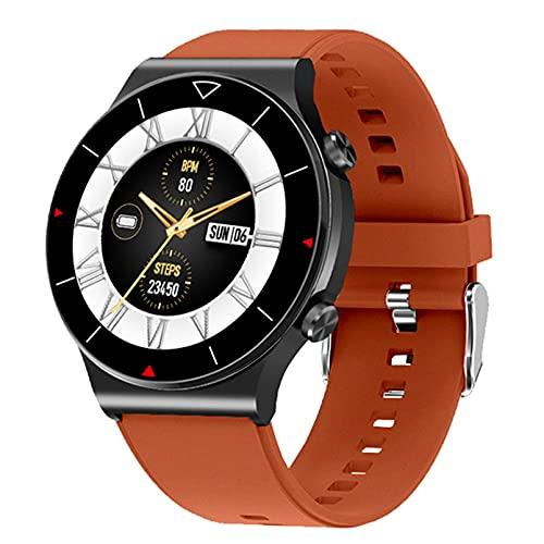QFSLR Smartwatch Fitness Smart Watch IP67 con Llamada Bluetooth Monitor De Frecuencia Cardíaca Monitor De Sueño Reloj Deportivo Hombres, Mujeres Podómetro Android iOS,Naranja