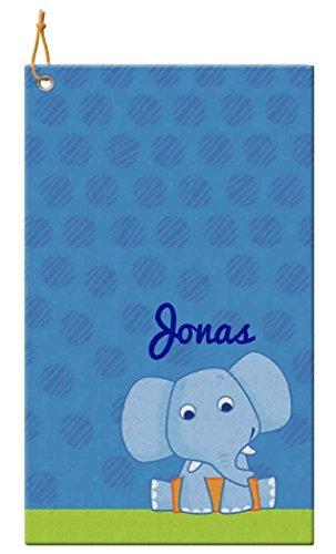 HABA 5794 - Badetuch Elefant mit Namen bestickt