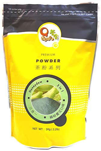 Qbubble Tea Powder Green Honeydew Powder, 2.2 Pound