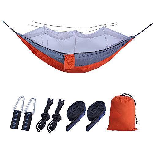 SSDAOO Camping Mosquito Net Hammock 210T Nylon Hammock Ocio Al Aire Libre Hamaca Picnic Hamaca,Naranja