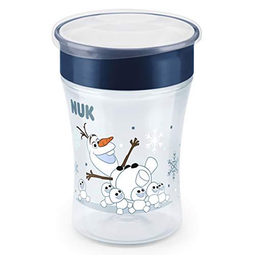 NUK Disney Frozen Magic Cup Trinklernbecher, 360° Trinkrand, 8+ Monate, BPA-frei, 230ml, Auslaufsicher, abdichtende Silikonscheibe, Blau