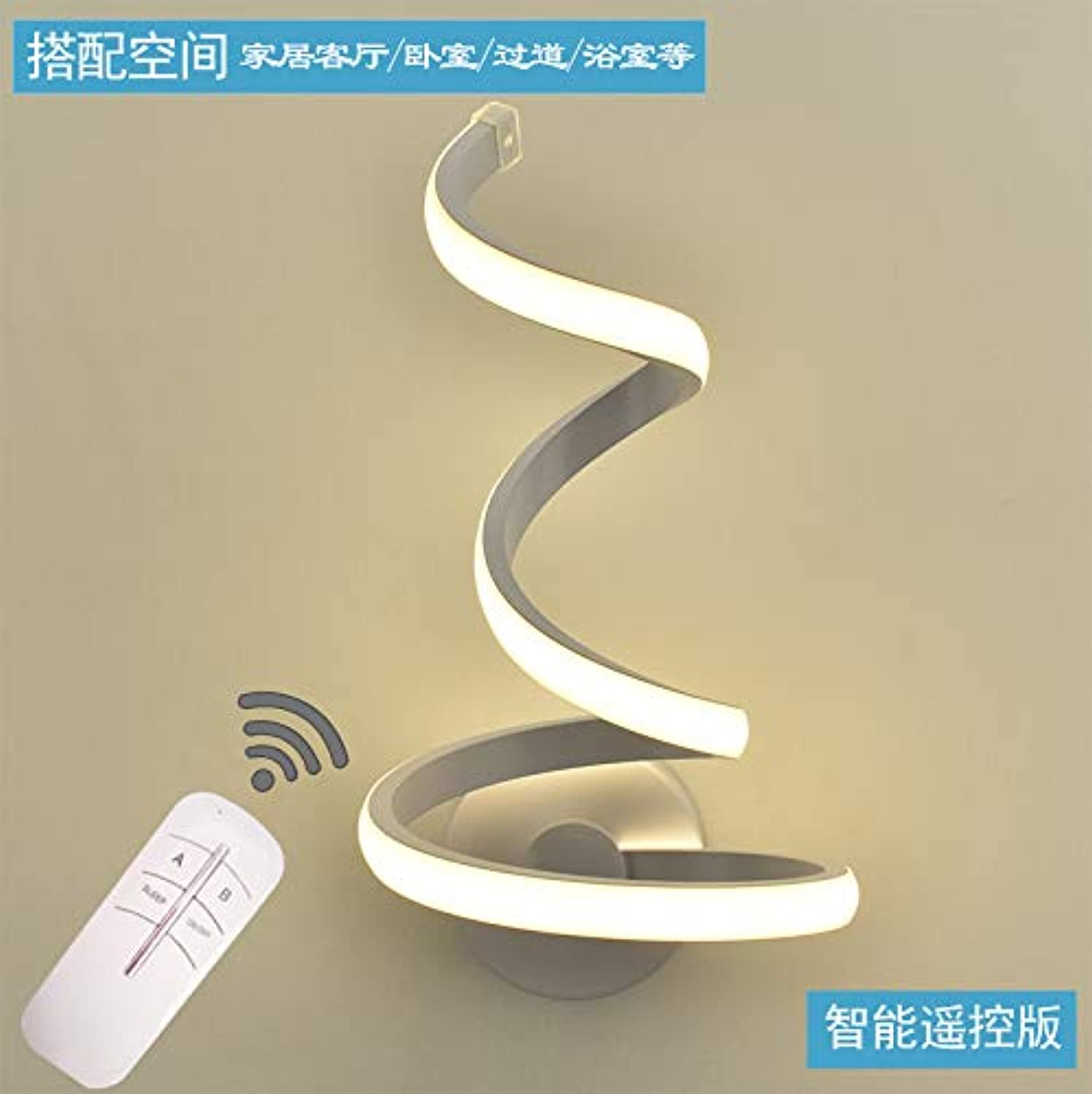 Nordic Bedside Schlafzimmer Wall Lamp Modern Simple Background Wall Living Room Lamp Fashion Creative Individuelle Passage Wall Lamp,Pc Aluminium Remote Control Edition