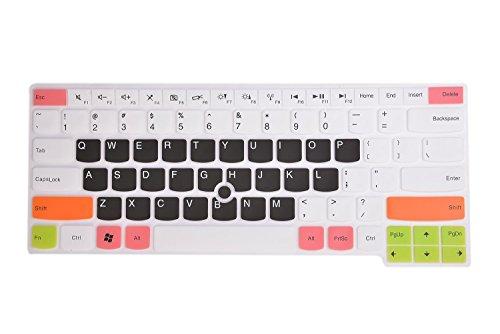 Leze - Ultradünne Tastaturabdeckung für Thinkpad E450C E460 E465 L450 T450S T14 T14s E14, Thinkpad P43s P14s, Thinkpad X1 Yoga 4th Gen, ThinkPad P1 Gen 2/3, X1 Extreme Gen 2/3 Laptop – Weiß Schwarz