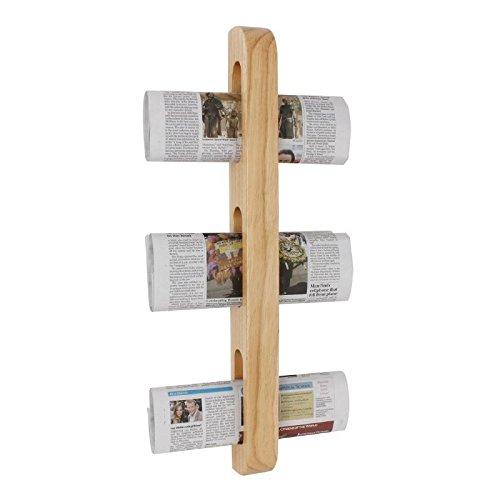 Olympia, revistero de madera, 605x 70x 45mm de montaje en pared, soporte para periódico y revistas.