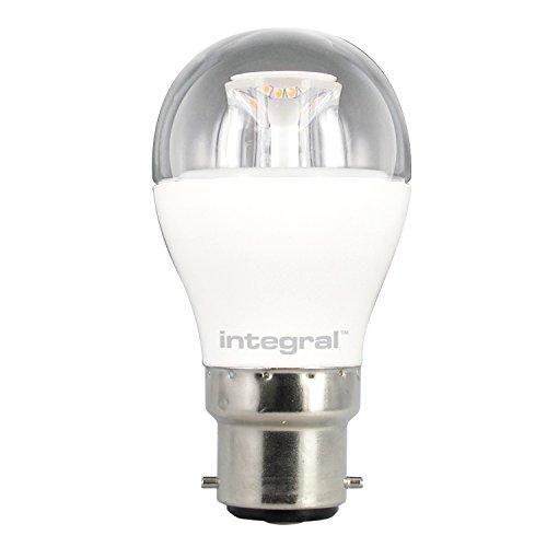 Integral LED ILP45B22C6.5D27KBEWA Ampoule LED B22 Mini Globe 6,5 W 2700 K 470 lm Dimmable Plastique/Aluminium/Nickel Brossé/Verre Blanc Chaud 8,9 x 4,5 cm