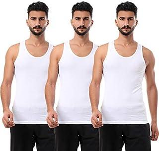 Round-Neck Solid Sleeveless Undershirt for Men, Set of 3