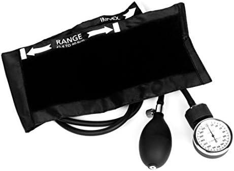 Ever Dixie EMS Deluxe Aneroid Sphygmomanometer Blood Pressure Cuff (Black)