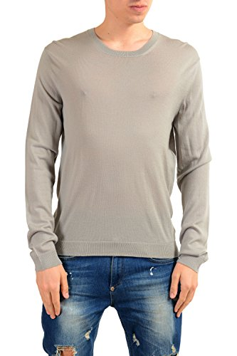 Versace Collection Men's 100% Wool Gray Crewneck Sweater US M IT 50