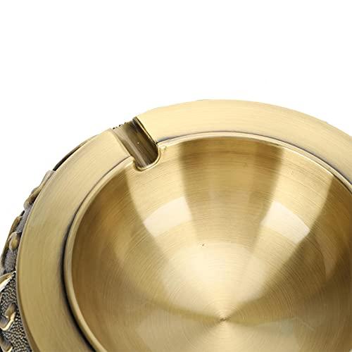 01 Cenicero Retro, estabiliza el cenicero de Metal Vintage de Tres Patas para Mesa de Centro para Comedor(Qinggu)