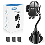 Cup Car Phone Holder for Car - RAXFLY Hands Free Adjustable Long Gooseneck Cup Phone Car Holder Mount Compatible with iPhone 12 11 X XR Pro Max Samsung Note 20 S20 Plus Smartphone Black