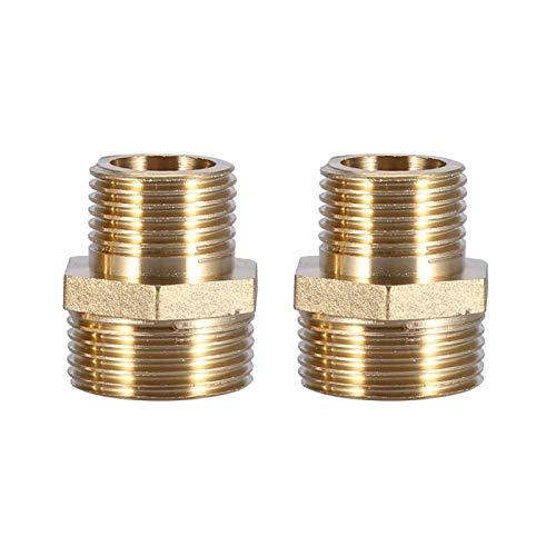 Eatbuy Niple Hexagonal - Accesorio de tubería de latón Niple Hexagonal Reductor de tubería Macho Accesorios de Tubo de Agua de 3/4'a 1/2'(Intensification)