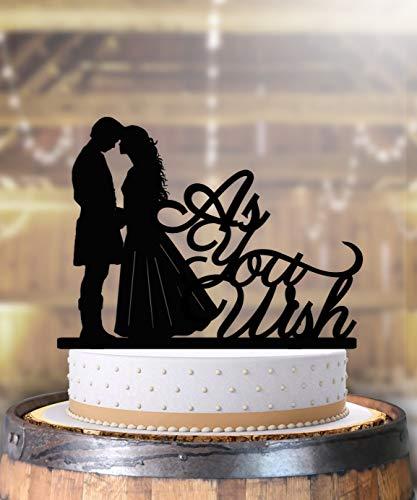 As You Wish Princess Bride Renaissance Wedding Anniversary Cake Topper