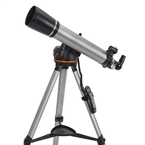 HGERFXC Telescopio, Astronómico Profesional Refracción Estelar 90MM HD Lente óptica Totalmente recubierta, Trípode portátil de búsqueda automática