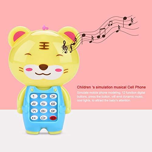 N#A Juguete de Aprendizaje Teléfono Celular Multifuncional, teléfono Celular para niños, teléfono Celular Multifuncional de simulación para el hogar(Tiger)